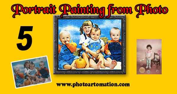 Custom frame Children oil portrait painting