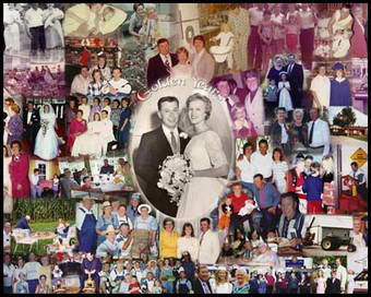 Photo collage gift for parents 50th wedding anniversary, good present for husband and wife