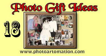 Gift ideas for parents anniversary, photo collage