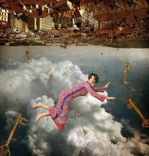 unusual photo collage, 50 pictures
