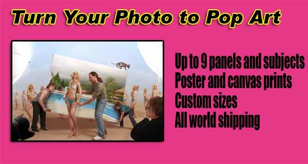 Personalized - Pop art your photos, Andy Warhol, Roy Lichtenstein online