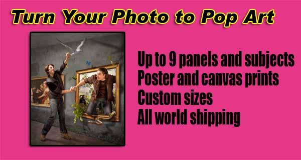 Transform Photo pop art, framed poster, free shipping