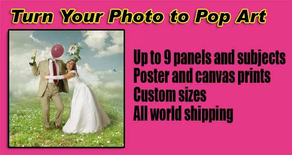 Pop art custom image, couple, family, wedding portraits