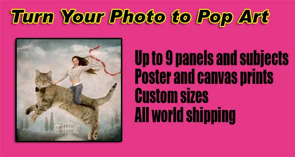 Turn Photo 2 pop art, acrylic portrait painting pet, dog, cat