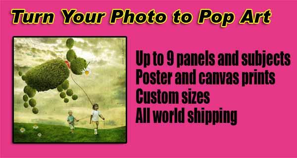 Create Pop photo art, metal portrait children, kids, boys, girls