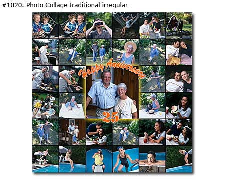 25th Anniversary Collage traditional irregular