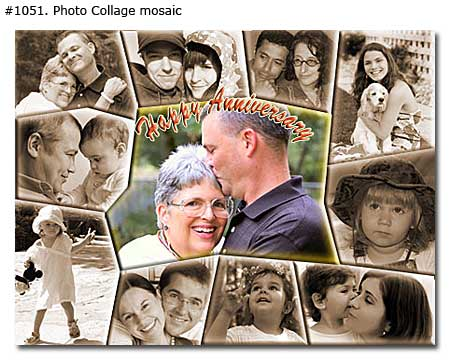 Family photo collage sample 1051