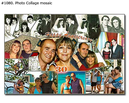 30th Wedding Anniversary Collage Gift Ideas for Married Couple