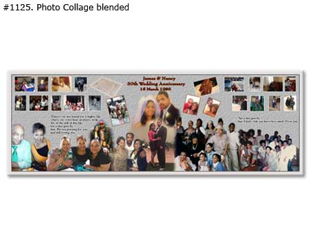 30th wedding anniversary collage, gift ideas for wife/husbans, parents/grandparents