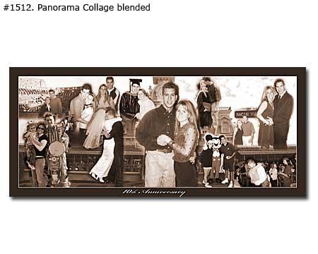 Panoramic Wedding Anniversary Collage