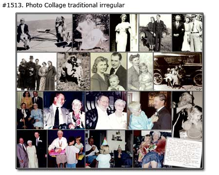Family Collage traditional irregular