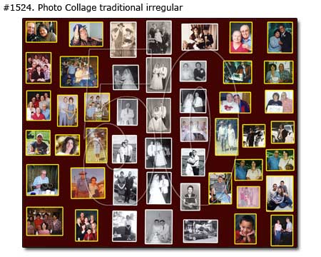 Happy 50th couple anniversary collage traditional