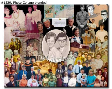 50th golden wedding anniversary collage gift for parents