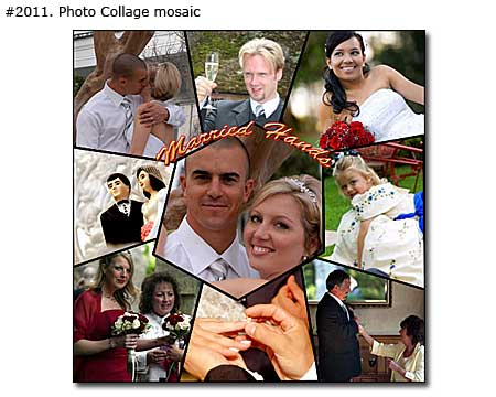 Custom wedding collage mosaic