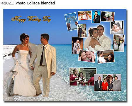 Collage ideas from wedding photos, bridegroom, anniversary gift ideas