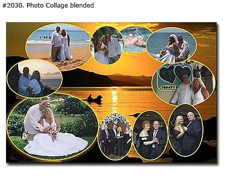 Wedding colorful photomontage