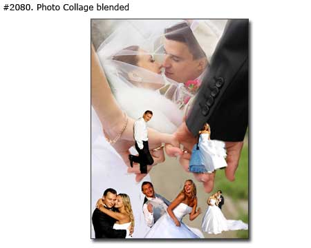 Wedding photo collage for married couple