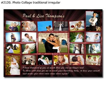 Wedding Photo collage traditional