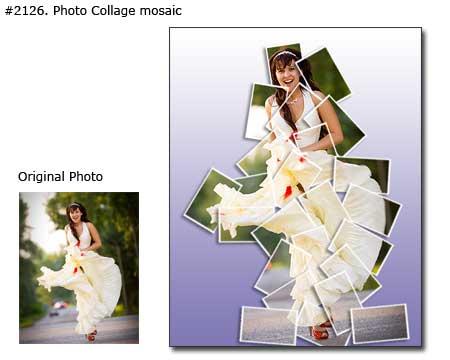 Polaroid wedding photo montage