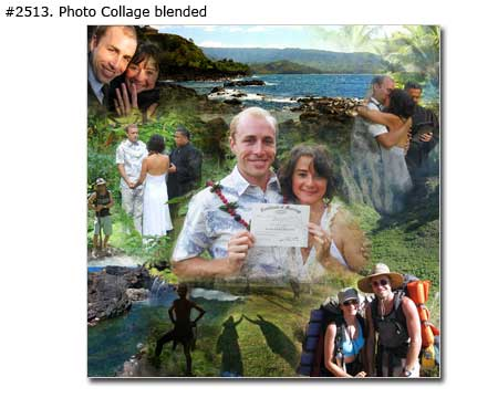 Special just married girlfriend, boyfriend anniversary present collage after 5 year together