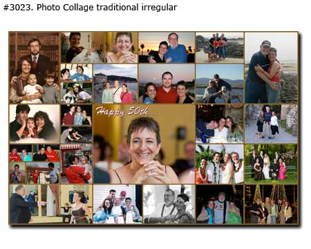 50th Birthday Collage traditional irregular
