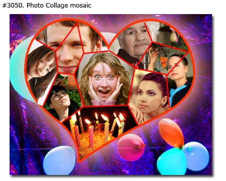Birthday photo collage design 3050