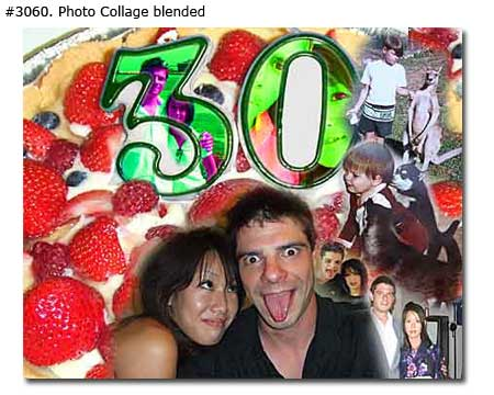 30th birthday collage for boyfriend from girlfriend