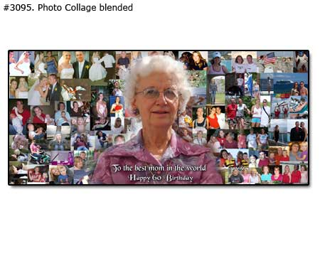 Picture collage as a gift for birthday