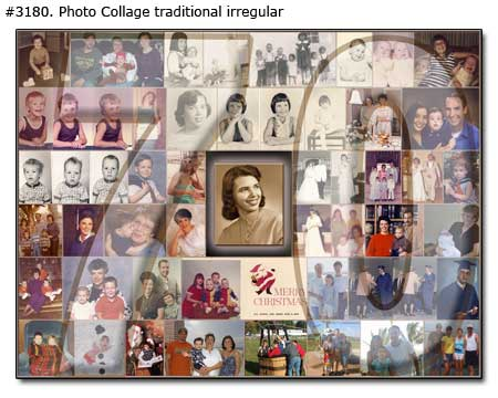70th Birthday Collage traditional irregular