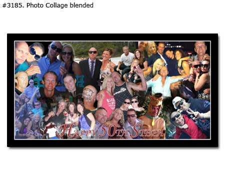 Happy husbands 40th birthday panoramic gift collage with quotes