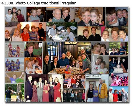 Happy Family Photo Collage traditional