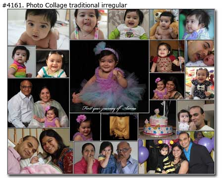 one year baby girl collage