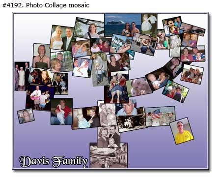Mosaic Family Tree photomontage examples