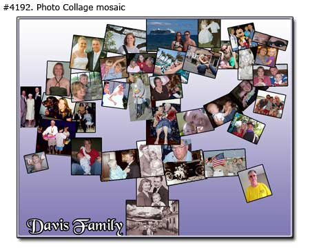 Family thee collage with love wishes