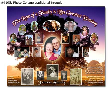 25x30 Family Tree History Collage