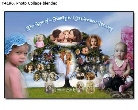 Family tree picture collage examples -50 photos