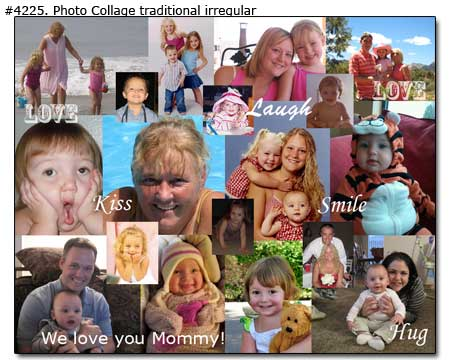 Mothers Day canvas print collage