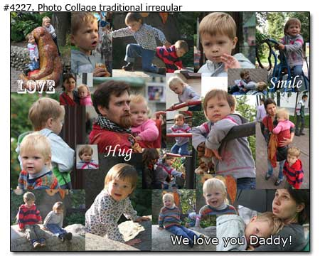 Children collage, We love you Daddy