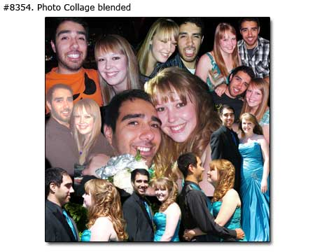 Love couple story photomontage