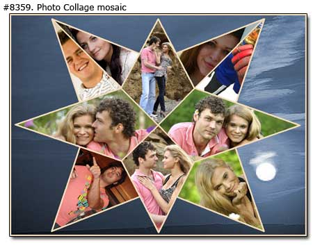 Couple photo collage sample 8359