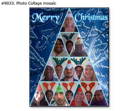 Family Christmas Tree printable mosaic collage – 40 photos