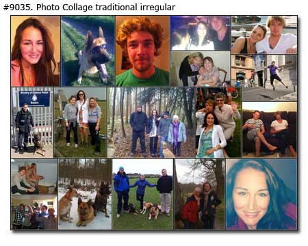 Photo collage for brothers birthday - Photomontage traditional
