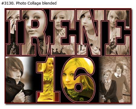16th girlfriend birthday collage blended