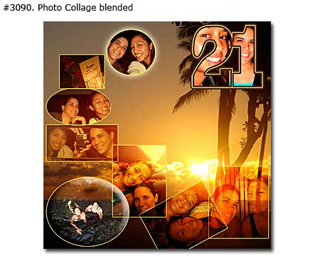 21st sister birthday collage blended