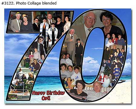 70th husband birthday collage blended