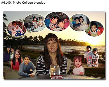 Wife birthday collage design blended