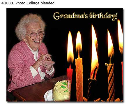 Grandma birthday collage design blended