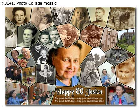 Happy birthday collage mosaic