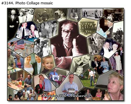 Happy 70 Richard collage mosaic