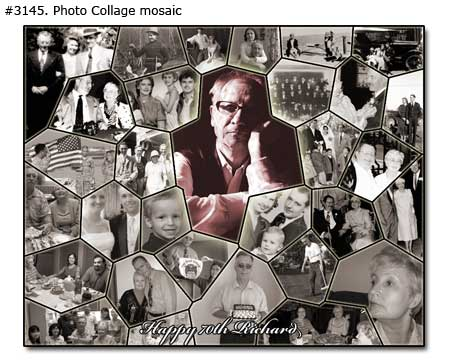 Happy birth day collage mosaic